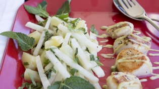 Redskins Jicama Pineapple Salad