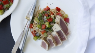 Seared Tuna with Soba Noodles